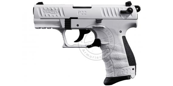Pistolet alarme WALTHER P22 Q White Edition - Cal. 9mm