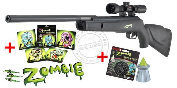 Pack Halloween - Carabine 4.5mm GAMO Zombie + lunette 4x32 (10 Joules)