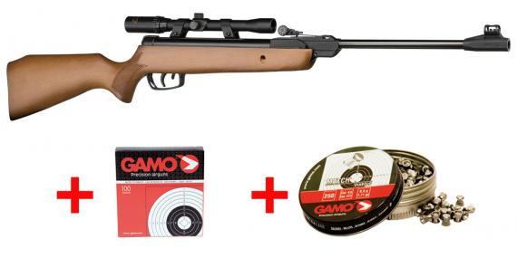 Kit carabine 4,5 mm GAMO CombO Junior Hunter (7,17 Joules)