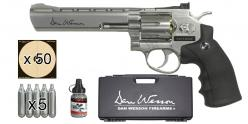 ASG Dan Wesson 6'' CO2 revolver kit - Nickel - .177 bore (3 joules) - PROMOTION