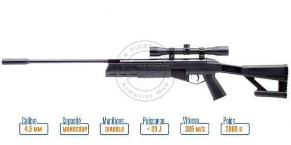 Carabine 4,5 mm CROSMAN TR77 Tactical - Noire (-20 joules)