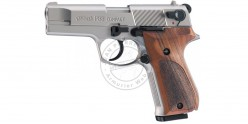 UMAREX P88 blank firing pistol - Nickel wooden grips - 9mm blank bore
