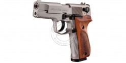 Pistolet alarme UMAREX P88 nickelé crosse bois - Cal. 9mm