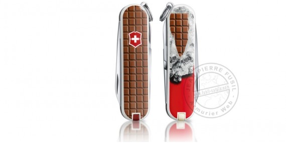 Couteau VICTORINOX - Chocolat - Classic 5p