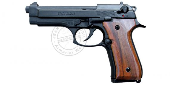 KIMAR Mod. 92 blank firing pistol - Black - Wooden stock - 9mm blank bore