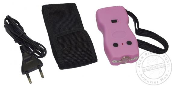 Police Security stun gun 2 000 000 V rechargeable + led - Pink