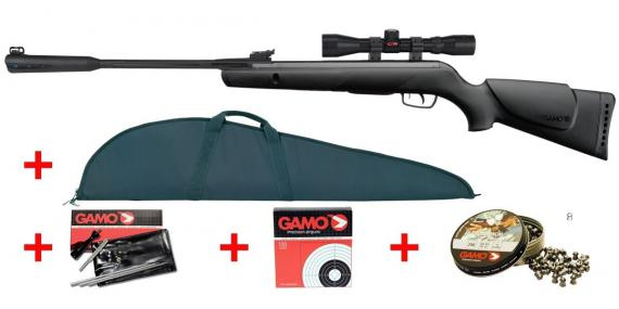 GAMO QUIET CAT air rifle pack - .177 rifle bore (19.96 joules) - CHERRY PACK