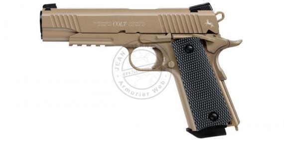 Pistolet à plomb CO2 4.5 mm UMAREX Colt M45 CQBP FDE - Finition Désert (inf. à 3 joules)