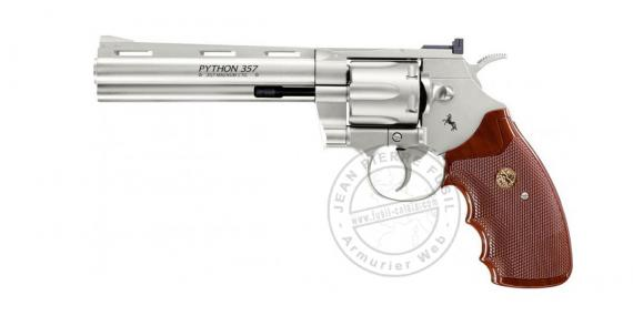 "UMAREX - COLT Python 4"" CO2 revolver - .177 bore - Nickel plated"