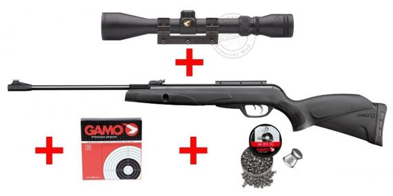 Pack carabine 4,5 mm GAMO Black Knight (-20 joules) - PROMO