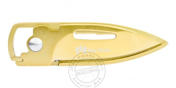 MAX KNIVES knife and key ring knife - Gold