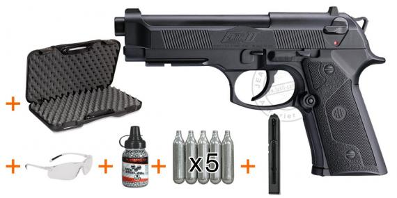 Kit Pistolet 4,5 mm CO2 UMAREX - Beretta Elite II (3 joules) - PROMOTION NOEL