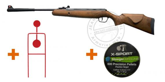 STOEGER X5 Wooden Air Rifle pack - .177 rifle bore (9,19 joules) - SPECIAL OFFER