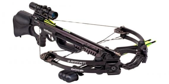 BARNETT Ghost 410 crossbow 185 Lbs + quiver + 3x32 scope