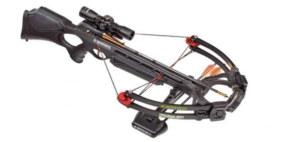 BARNETT Zombie 350 crossbow 175 Lbs + quiver + 3x32 scope