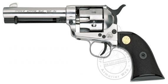 KIMAR 1873 Single Action revolver - Chromium finish- 6mm /22Lr blank