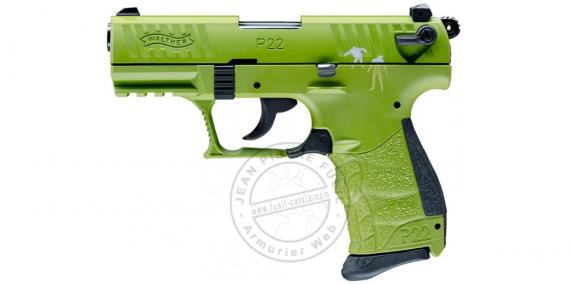 WALTHER P22Q Zombster blank firing pistol - 9mm blank bore