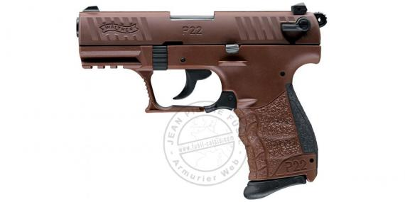 Pistolet alarme WALTHER P22Q Chocolate- Cal. 9mm