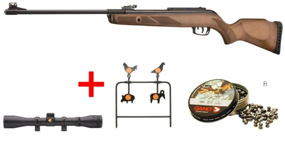 GAMO Hunter 440 Air Rifle kit (19.9 Joules) - .177 rifle bore - CHERRY PACK