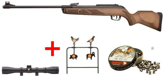 Kit carabine 4,5 mm GAMO Hunter 440 (19,9 Joules) - PACK CERISE