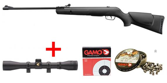 GAMO Shadow 1000 Air Rifle pack - .177 rifle bore (19.9 joules) - CHERRY PACK