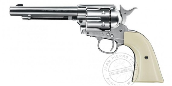 "UMAREX Colt Single Action Army 45 CO2 revolver - 5,5"" - .177 bore (3 joules) - Nickel plated finish"