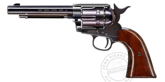 "UMAREX Colt Single Action Army 45 CO2 revolver - 5,5"" - .177 bore (3 joules) - Blued brown finish"