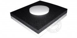 Foam arrow backstop with high density center