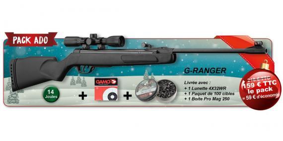 GAMO G-Ranger Air Rifle kit (14 joules) - .177 rifle bore - CHRISTMAS 2015 PACK