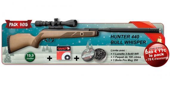 GAMO Hunter 440 Bull Whisper Air Rifle kit (19.9 Joules) - .177 rifle bore - PROMO