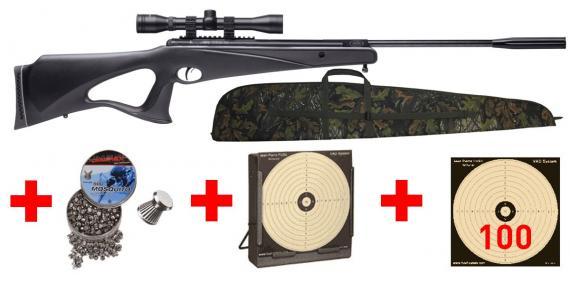 Kit carabine 4,5 mm CROSMAN Benjamin Titan XS NP (19.9 joules) - PACK PROMO