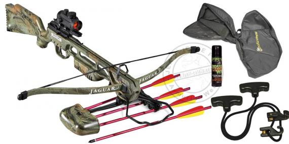 Cossbow kit Camo 150 Lbs with quiver, bolts and red dot sight - PROMO