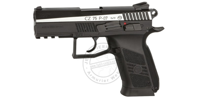 ASG CZ 75 P-07 Duty - Blowback CO2 pistol - Dual tone - .177 bore (2 joules)