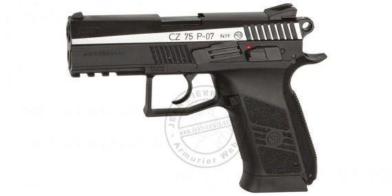 Pistolet à plomb CO2 4.5 mm ASG CZ 75 P-07 Duty - Blowback - Bicolore (2 joules)