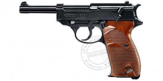 Pistolet à plomb CO2 4.5 mm WALTHER P38 Blowback (3 Joules max)