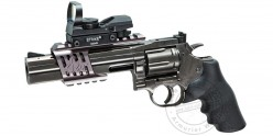 Revolver 4,5 mm CO2 ASG Dan Wesson 715 - canon 6'' - Steel grey (3 joules) - Plombs