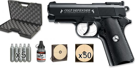Kit pistolet 4,5 mm CO2 UMAREX Colt Defender (2,6 joules) - PROMO