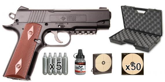 CROSMAN 1911 BB CO2 pistol pack (3,5 joules) - PROMO