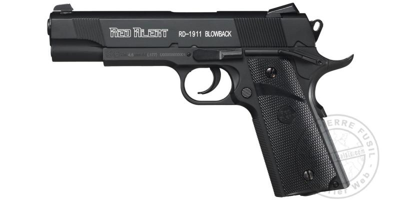 Pistolet 4,5 mm CO2 Red Alert RD-1911 Blow-back (3 joules)