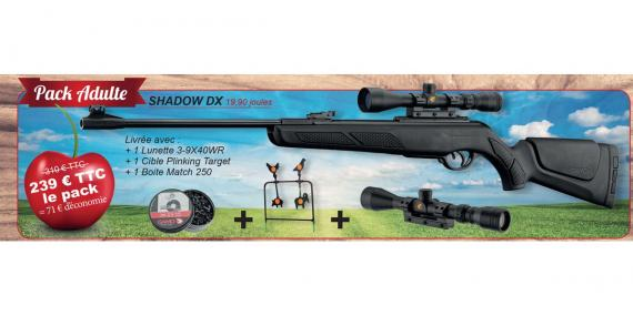 Kit carabine GAMO Shadow DX 4.5 mm (19.9 joules) - PACK CERISE 2016