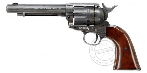 "Revolver 4,5 mm CO2 UMAREX Colt Single Action Army 45 - 5,5"" - Finition Antique - Plombs"