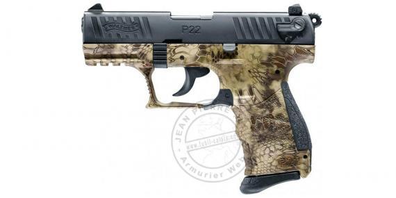 Pistolet alarme WALTHER P22Q Kryptek - Cal. 9mm