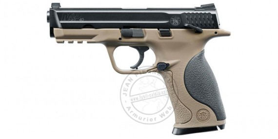 Pistolet à plomb CO2 4.5 mm SMITH & WESSON Mod. M&P 40 - BlowBack - FDE (1.4 joules)