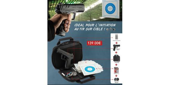 Kit Pistolet 4,5 mm CO2 GAMO C15 Blowback (3,10 joules) - PROMO