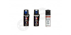Set of 3 self-defence sprays 50ml CS gas + 50ml CS gel + 50ml Pepper Gel - PROMOTION