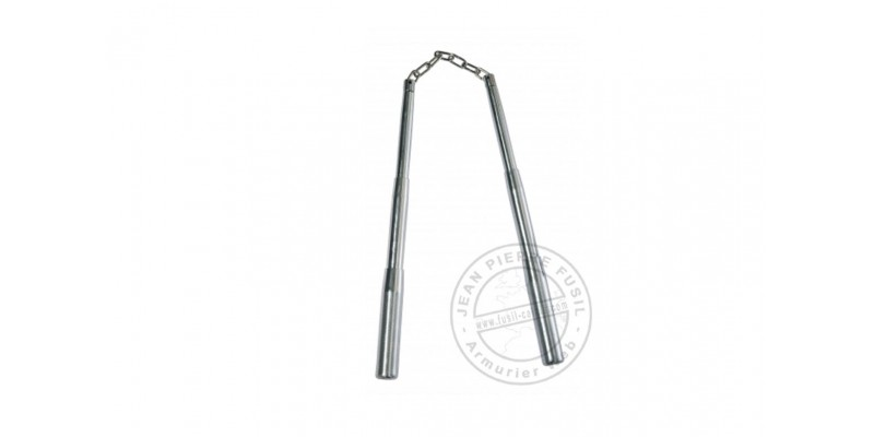 Telescopic nunchaku metal - Chrome-plated - Chain