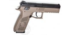 Pistolet à plomb CO2 4.5 mm ASG CZ P-09 DT FDE - Blowback - Bicolore (3.7 joules)