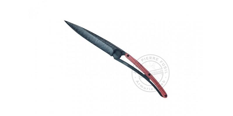 Couteau DEEJO Black Tattoo Plume - Bois de Rose - 37g
