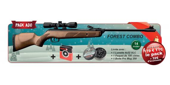Kit carabine à plombs GAMO Forest 4,5 mm (14 joules) + lunette 4x32 - PACK PROMO