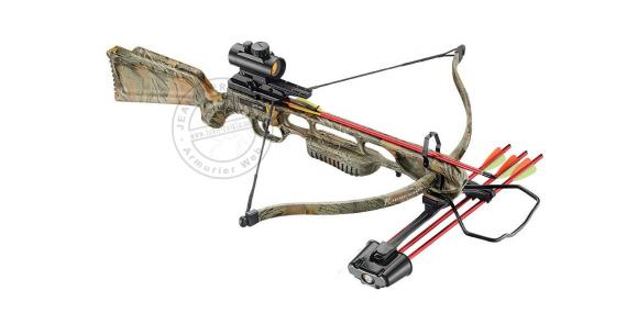 Jaguar I 175 Lbs camo crossbow with quiver, bolts and red dot sight